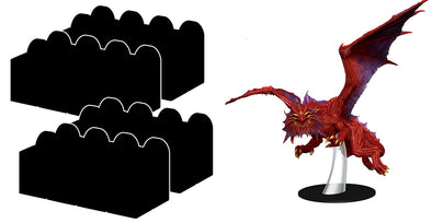 Dungeons and Dragons Minis - Icons of the Realms: Guildmaster's Guide to Ravnica - Booster Case With Niv-Mizzet Figure