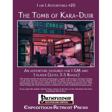 Buy Pathfinder - Module - 1 on 1 Adventures: #20 The Tomb of Kara-Duir and more Great RPG Products at 401 Games
