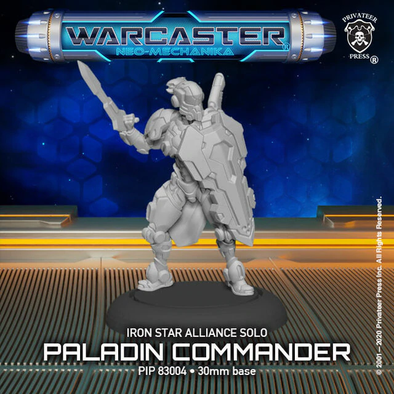 Warcaster - Neo-Mechanika - Iron Star Alliance - Paladin Commander - 401 Games