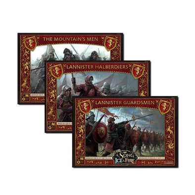 A Song of Ice and Fire - Tabletop Miniatures Game - House Lannister - House Lannister Bundle available at 401 Games Canada