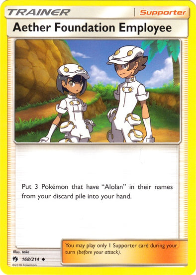 Buy Aether Foundation Employee - 168/214 and more Great Pokemon Products at 401 Games