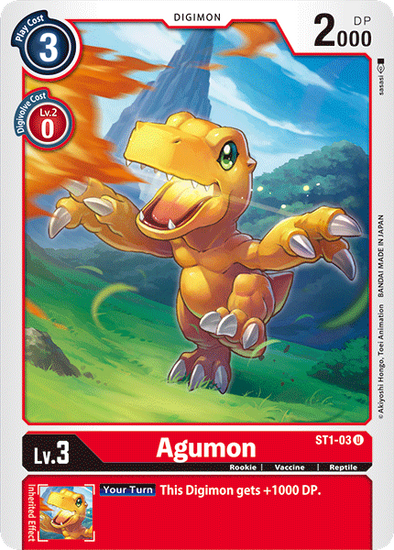 Agumon (ST1-03) available at 401 Games Canada