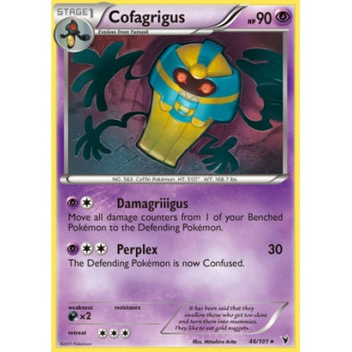 Buy Cofagrigus - 46/101 - Reverse Foil and more Great Pokemon Products at 401 Games