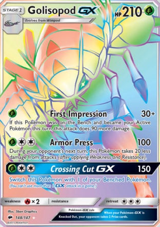 Buy Golisopod-GX - 148/147 - Hyper Rare and more Great Pokemon Products at 401 Games