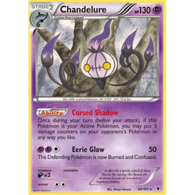 Buy Chandelure - 60/101 - Reverse Foil and more Great Pokemon Products at 401 Games