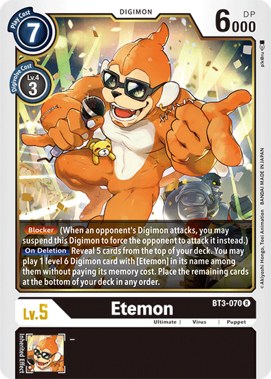 Etemon (BT3-070) available at 401 Games Canada