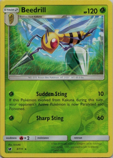 Buy Beedrill - 3/111 - Reverse Foil and more Great Pokemon Products at 401 Games