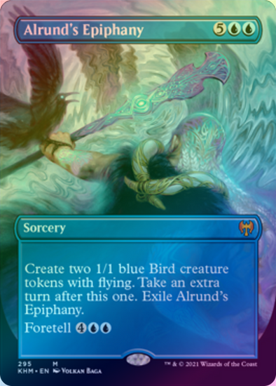 Alrund's Epiphany - Borderless (FOIL) (KHM) available at 401 Games Canada