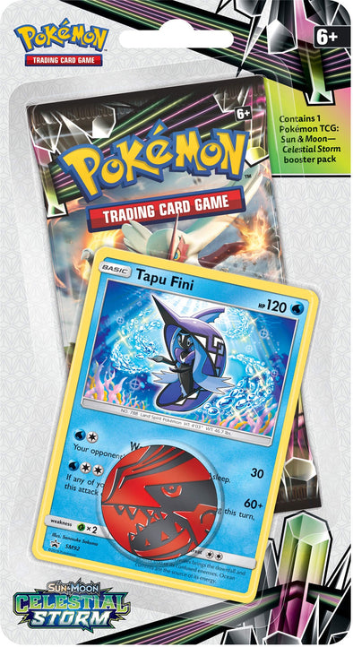 Buy Pokemon - Celestial Storm Check Lane Blisters - Tapu Fini and more Great Pokemon Products at 401 Games