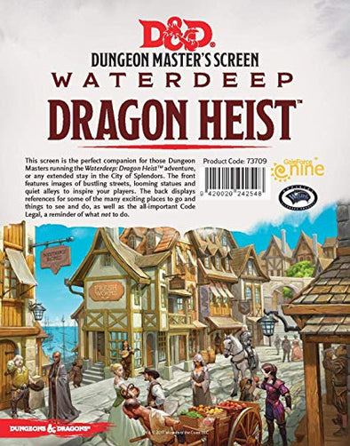 Dungeons & Dragons - 5th Edition - Dungeon Master's Screen - Waterdeep: Dragon Heist - 401 Games