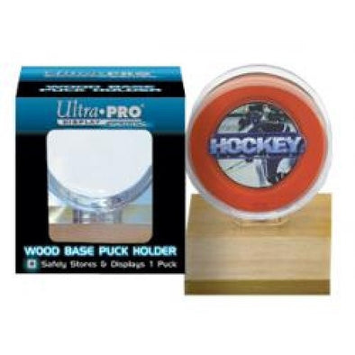 Buy Ultra Pro - Puck Holder - Light Wood Base and more Great Sleeves & Supplies Products at 401 Games