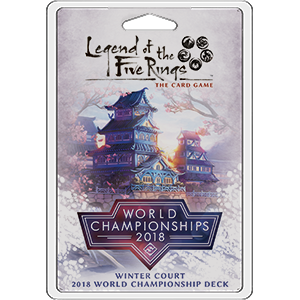Buy Legend of the Five Rings: The Card Game - Winter Court 2018 World Championship Deck (Pre-Order) and more Great Board Games Products at 401 Games