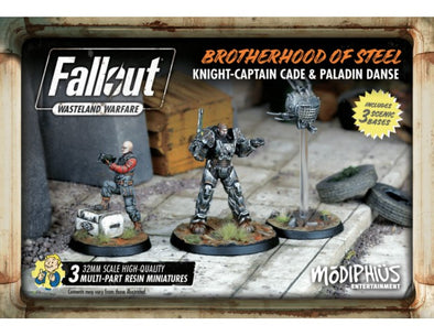 Buy Fallout - Wasteland Warfare - Brotherhood of Steel - Knight-Captain Cade & Paladin Danse and more Great Tabletop Wargames Products at 401 Games
