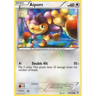 Buy Aipom - 99/124 - Reverse Foil and more Great Pokemon Products at 401 Games