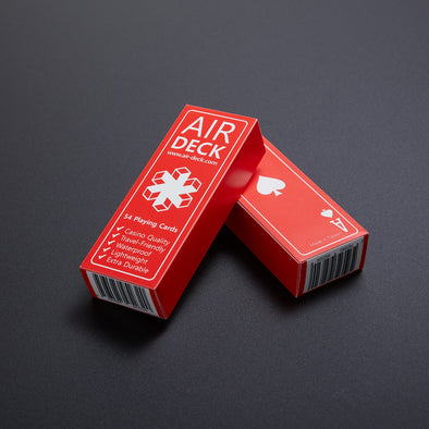 Air Deck - Travel Playing Cards - Red