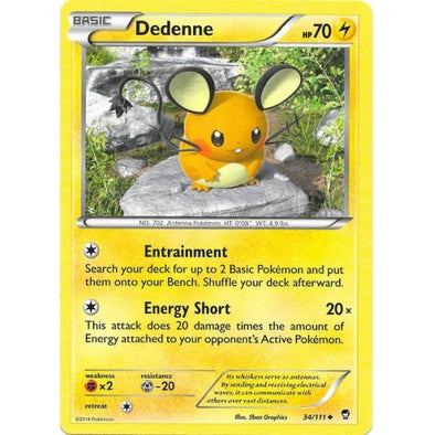 Buy Dedenne - 34/111 and more Great Pokemon Products at 401 Games