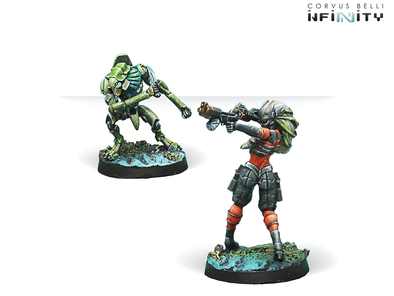 Infinity - Combined Army - Raicho Pilot & Scindron Ancillary Remote Unit (Combined Army TAG Pilots Set) available at 401 Games Canada