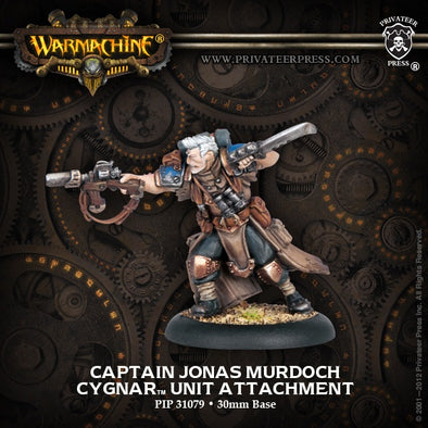 Buy Warmachine - Cygnar - Captain Jonas Murdoch and more Great Tabletop Wargames Products at 401 Games