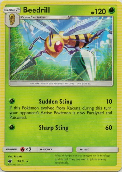 Buy Beedrill - 3/111 and more Great Pokemon Products at 401 Games