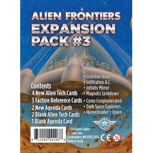 Buy Alien Frontiers - Expansion Pack 3 and more Great Board Games Products at 401 Games