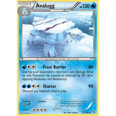 Buy Avalugg - 31/106 - Reverse Foil and more Great Pokemon Products at 401 Games
