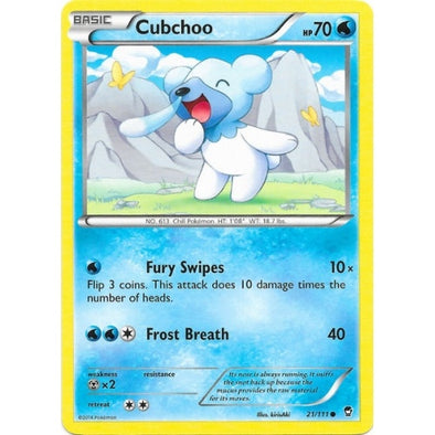 Buy Cubchoo - 21/111 - Reverse Foil and more Great Pokemon Products at 401 Games