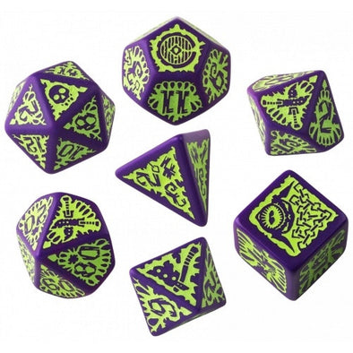 Dice Set - Q-Workshop - 7 Piece Set - Pathfinder - Goblin - 401 Games