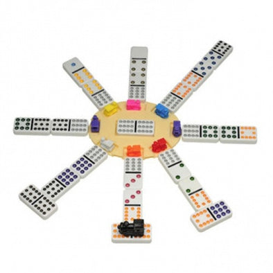 Dominoes - Mexican Train Dominoes - Wood Expression - 401 Games