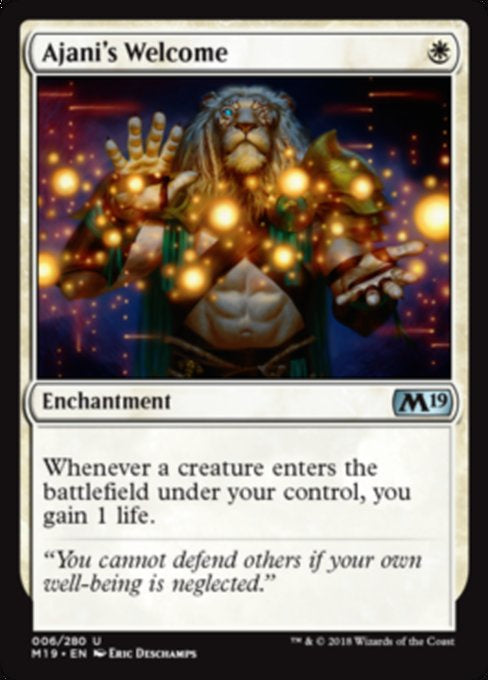 Ajani's Welcome (M19) available at 401 Games Canada