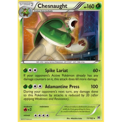 Buy Chesnaught - 11/162 - Reverse Foil and more Great Pokemon Products at 401 Games