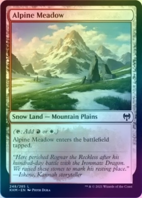 Alpine Meadow (FOIL) (KHM) available at 401 Games Canada