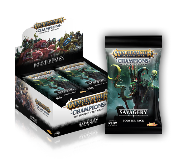 Buy Warhammer - Age of Sigmar - Champions - Savagery Booster Box and more Great Board Games Products at 401 Games