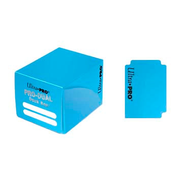 Buy Ultra Pro - Pro Dual Deck Box 120ct - Light Blue and more Great Sleeves & Supplies Products at 401 Games