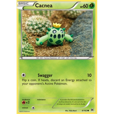 Buy Cacnea - 4/162 - Reverse Foil and more Great Pokemon Products at 401 Games