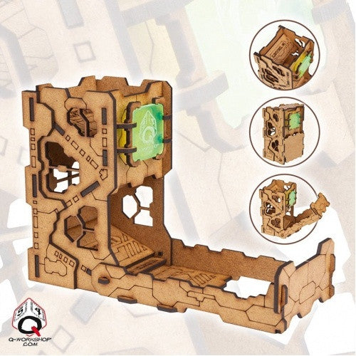 Buy Dice Tower - Q-Workshop - Tech (Wood) and more Great Dice Products at 401 Games