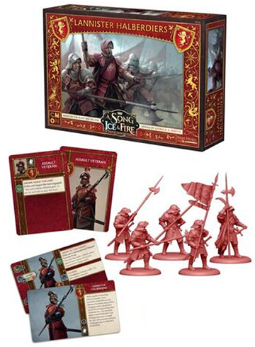 Buy A Song of Ice and Fire - Tabletop Miniatures Game - House Lannister - Lannister Halberdiers and more Great Tabletop Wargames Products at 401 Games
