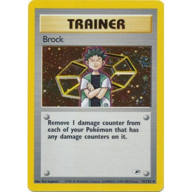 Buy Brock - 15/132 - Unlimited (GYMH) and more Great Pokemon Products at 401 Games