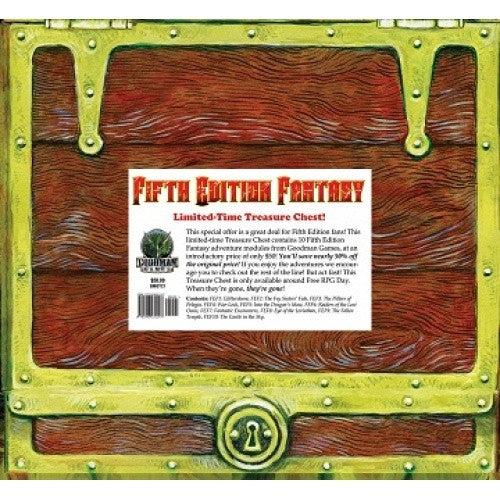 Buy Dungeons and Dragons - 5th Edition - Fifth Edition Fantasy: Treasure Chest Boxed Set and more Great RPG Products at 401 Games