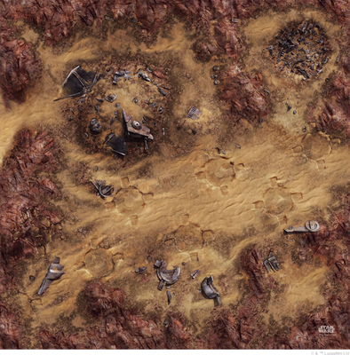 Star Wars - Legion - Desert Junkyard Game Mat - 401 Games