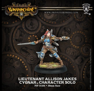 Buy Warmachine - Cygnar - Lieutenant Allison Jakes and more Great Tabletop Wargames Products at 401 Games