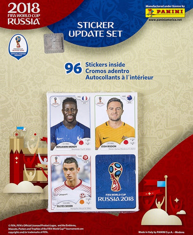 2018 Panini FIFA World Cup Soccer Sticker Update Set