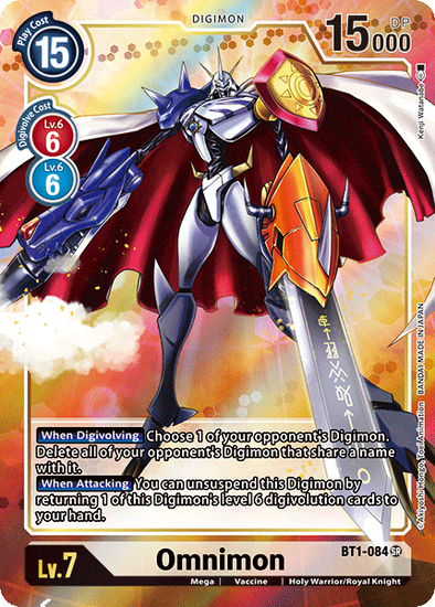 Omnimon - Alternative Art (BT1-084) available at 401 Games Canada