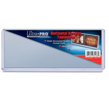 Buy Ultra Pro - Horizontal Booklet Toploader 10ct - (193.7 mm x 81.4 mm) and more Great Sleeves & Supplies Products at 401 Games