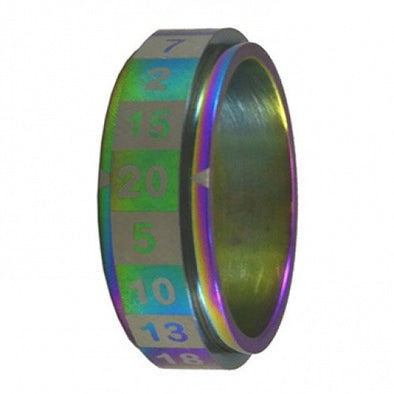 R20 Dice Ring - Size 08 - Rainbow available at 401 Games Canada