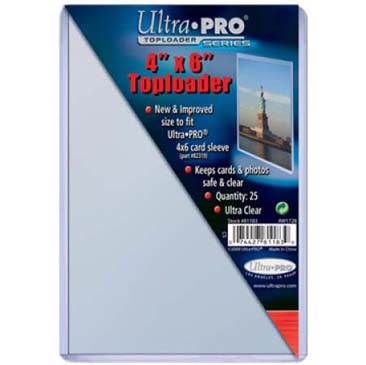 Buy Ultra Pro - Toploader 25ct - 4x6 (101.6mm x 152.4mm) and more Great Sleeves & Supplies Products at 401 Games