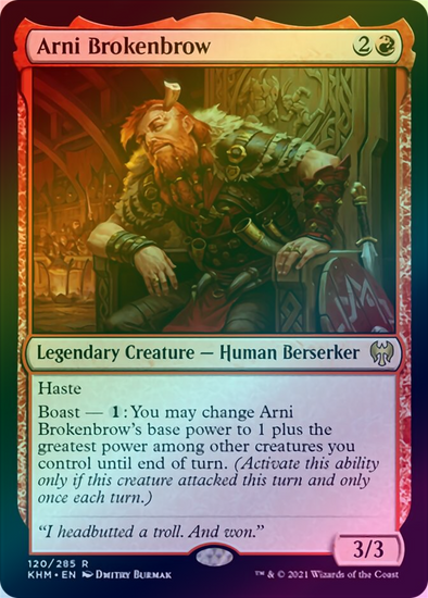 Arni Brokenbrow (FOIL) (KHM) available at 401 Games Canada