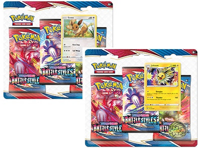 Pokemon - Battle Styles - 3 Pack Blister - 2 Blister Bundle (Pre-Order March 19th, 2021) available at 401 Games Canada