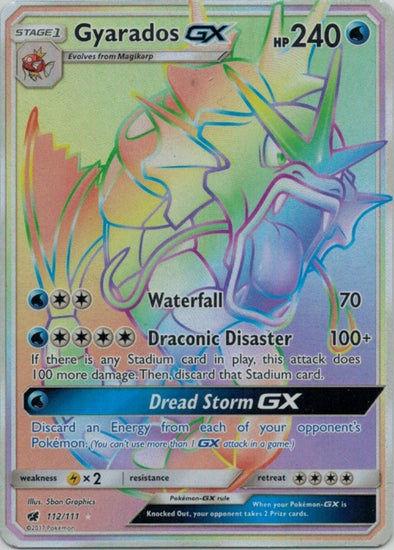 Buy Gyarados-GX - 112/111 - Hyper Rare and more Great Pokemon Products at 401 Games