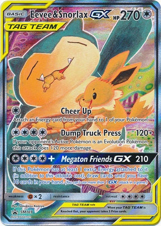 Buy Eevee & Snorlax-GX - SM169 - Alternate Full Art and more Great Pokemon Products at 401 Games