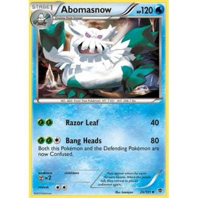 Buy Abomasnow - 26/101 - Reverse Foil and more Great Pokemon Products at 401 Games